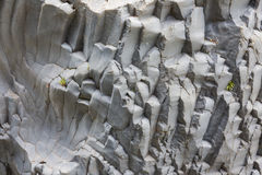 Basalt rock formations at Gole Alcantara on Sicily, Italy Royalty Free Stock Images