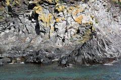 Basalt rock formations, Hellnar - Iceland Stock Images