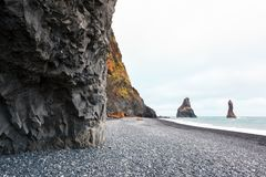 Basalt rock formations `Troll toes` Royalty Free Stock Image