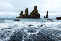 Basalt rock formations `Troll toes` Stock Images