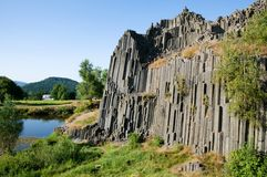 Basalt rock Panska Skala, Czech republic Royalty Free Stock Images