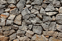 Basalt rock wall Stock Photo