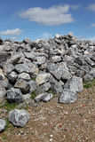 Basalt rocks. Bunch basalt rocks ready for use for the strengthening of the dikes in Holland royalty free stock images