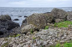 Volcanic Rock Formations at the Giants Causeway in Northern Irel Royalty Free Stock Photography