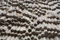Basalt rocks in Armenia. Stock Photos