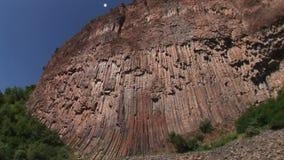 Basalt rocks in Armenia. Beautiful basalt rocks called Symphony of Stones. Armenia stock video