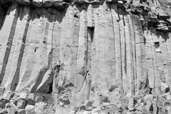 Basalt Rocks Column are volcanic rock outcrops in the form of columnar basalt located in Racos, Romania. In an old roman abandoned career. It is a national royalty free stock photo