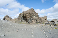 Basalt rocks. In Hjodaklettar Iceland stock photo