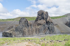 Basalt rocks. In Hjodaklettar in Iceland royalty free stock photos