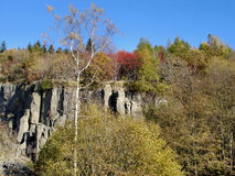 Basalt rocks in the Ore Mountains Royalty Free Stock Images