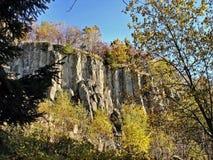 Basalt rocks in the Ore Mountains Stock Photos