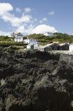 Basalt Rocks, Pico Island, Azores Stock Photo