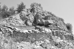 Basalt Rocks, volcanic rock outcrops located in the village Racos, Romania. Racos is a village in Brasov county, Transylvania, Romania near one active and three royalty free stock photography