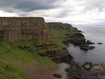 Basalt seashore of Ireland Stock Photos