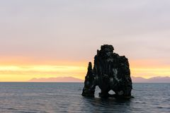 Basalt stack Hvitserkur Royalty Free Stock Images
