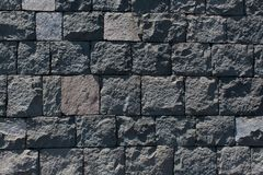 Basalt stone wall stock photography