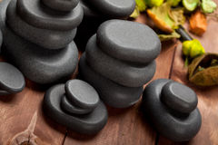 Basalt stones. Spa treatment - Basalt stones for massage royalty free stock photography