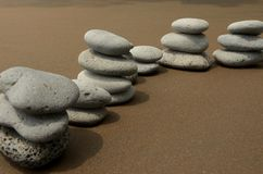 Basalt Stones on Beach Royalty Free Stock Photos