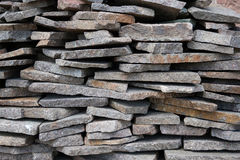 Basalt stones. In a construction site Stock Photo