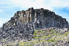Basalt stones near Hvitserkur spectacular rock in the sea Stock Images