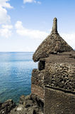 Basalt turret. Turret of an ancient fortress in Pico Island, Azores Royalty Free Stock Photos