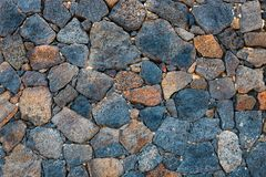 Basalt volcanic rock wall stock photography