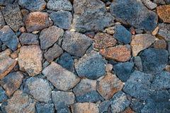 Basalt volcanic rock wal Stock Images