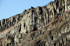 Basalt wall Royalty Free Stock Image