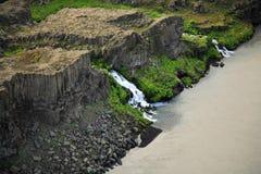 Basalt waterfall Royalty Free Stock Photography