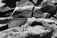 Basaltachtig stollingsgesteente Stock Foto's