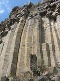 Basaltachtige kolommen Stock Foto