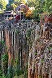 Basaltachtige Prisma's van Santa Maria Regla mexico royalty-vrije stock foto's