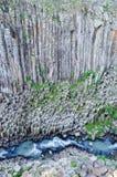 Basaltachtige Prisma'scanion van Santa Maria Regla, Huasca DE Ocampo, Mexico 16 mei Stock Fotografie