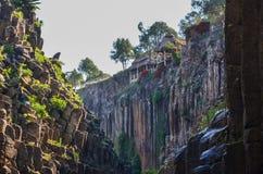 Basaltachtige Prisma'scanion van Santa Maria Regla, Huasca DE Ocampo, Mexico 16 mei Stock Foto