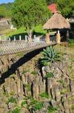 Basaltachtige Prisma'scanion van Santa Maria Regla, Huasca DE Ocampo, Mexico 16 mei Royalty-vrije Stock Foto's