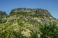 Basaltberg i den Lori regionen i Armenien Fotografering för Bildbyråer