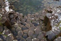 Basalte colomnaire à la chaussée du géant, Irlande du Nord Photos libres de droits