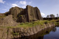 Basalte rock Stock Image