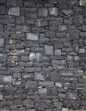 Basaltet blockerar väggen arkivbilder