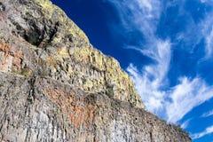 Basaltet vaggar i den östliga staten Washington, USA Arkivfoto