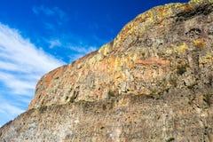 Basaltet vaggar i den östliga staten Washington, USA Arkivfoton