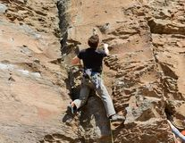 Basaltet vaggar klättrare 1 Fotografering för Bildbyråer