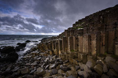 Basaltic formation at the giant causeway Stock Images