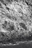 Basaltic formation in the mediterranean coastline, Almeria. Spai Royalty Free Stock Image