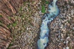 Basaltic Prisms of Santa Maria Regla. Mexico. Basaltic Prisms of Santa Maria Regla. Tall columns of basalt rock in canyon, Huasca de Ocampo, Mexico stock photography