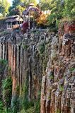 Basaltic Prisms of Santa Maria Regla. Mexico. Basaltic Prisms of Santa Maria Regla. Tall columns of basalt rock in canyon, Huasca de Ocampo, Mexico royalty free stock photos