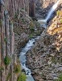 Basaltic Prisms of Santa Maria Regla. Mexico. Basaltic Prisms of Santa Maria Regla. Tall columns of basalt rock in canyon, Huasca de Ocampo, Mexico royalty free stock image