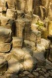 Basaltic Prisms of Santa Maria Regla. Mexico. Basaltic Prisms of Santa Maria Regla. Tall columns of basalt rock in canyon, Huasca de Ocampo, Mexico stock image