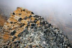 Basaltic rocks formations Royalty Free Stock Photos