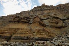 Basaltic strata walls Stock Photography